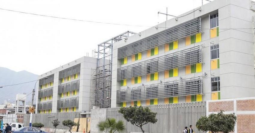 PRONIED renueva infraestructura de la institución educativa Esther Cáceres Salgado en El Rímac - www.pronied.gob.pe