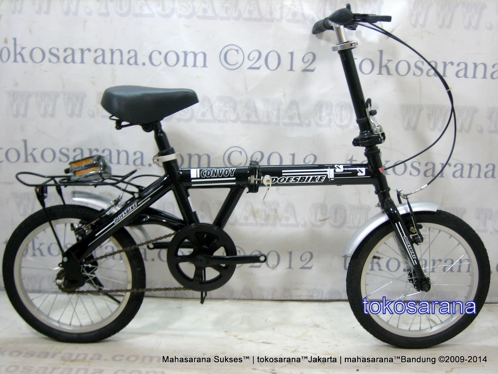 16 Inch DoesBike 1601 Convoy Folding Bike with Carrier