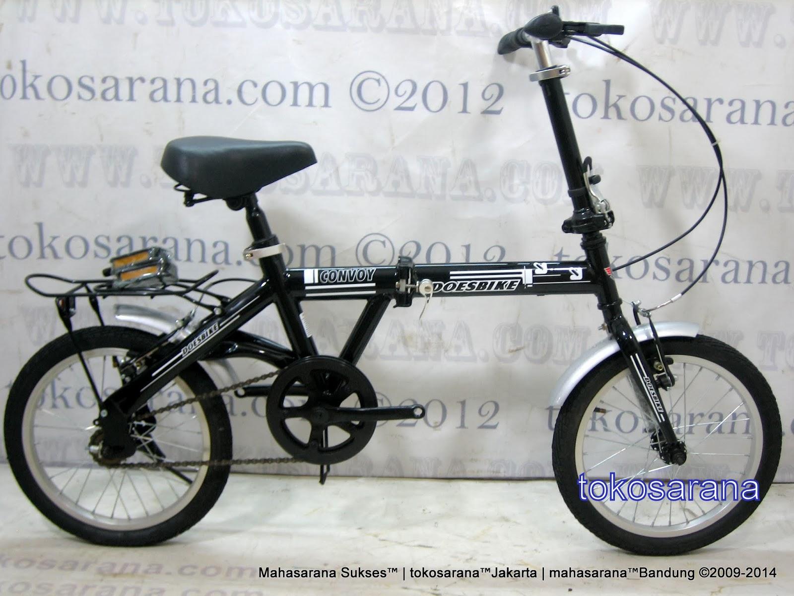 16 Inch DoesBike 1601 Convoy Folding Bike with Carrier