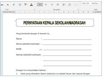 PANDUAN Sispena-S/M Untuk Sekolah dan Madrasah