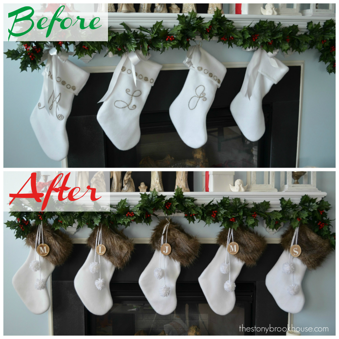 Before and After New Furry Stockings