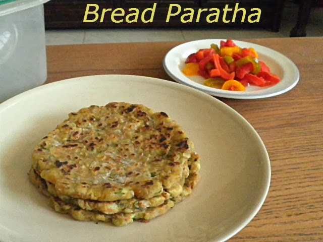 Bread Paratha Recipe @ http://treatntrick.blogspot.com