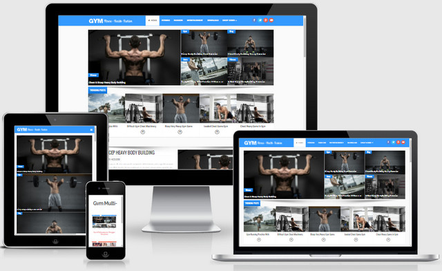 Gym MultiPurpose Responsive Blogger Templates