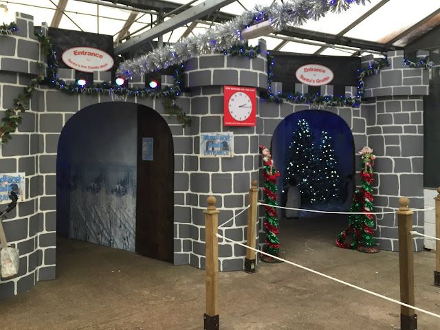 Entrance to the woodland walk and Santa's grotto