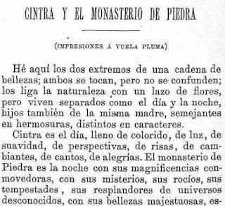 Fragmento del texto publicado en La Ilustración Ibérica