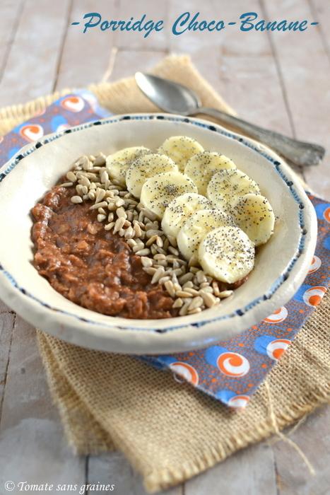 Porridge choco-banane