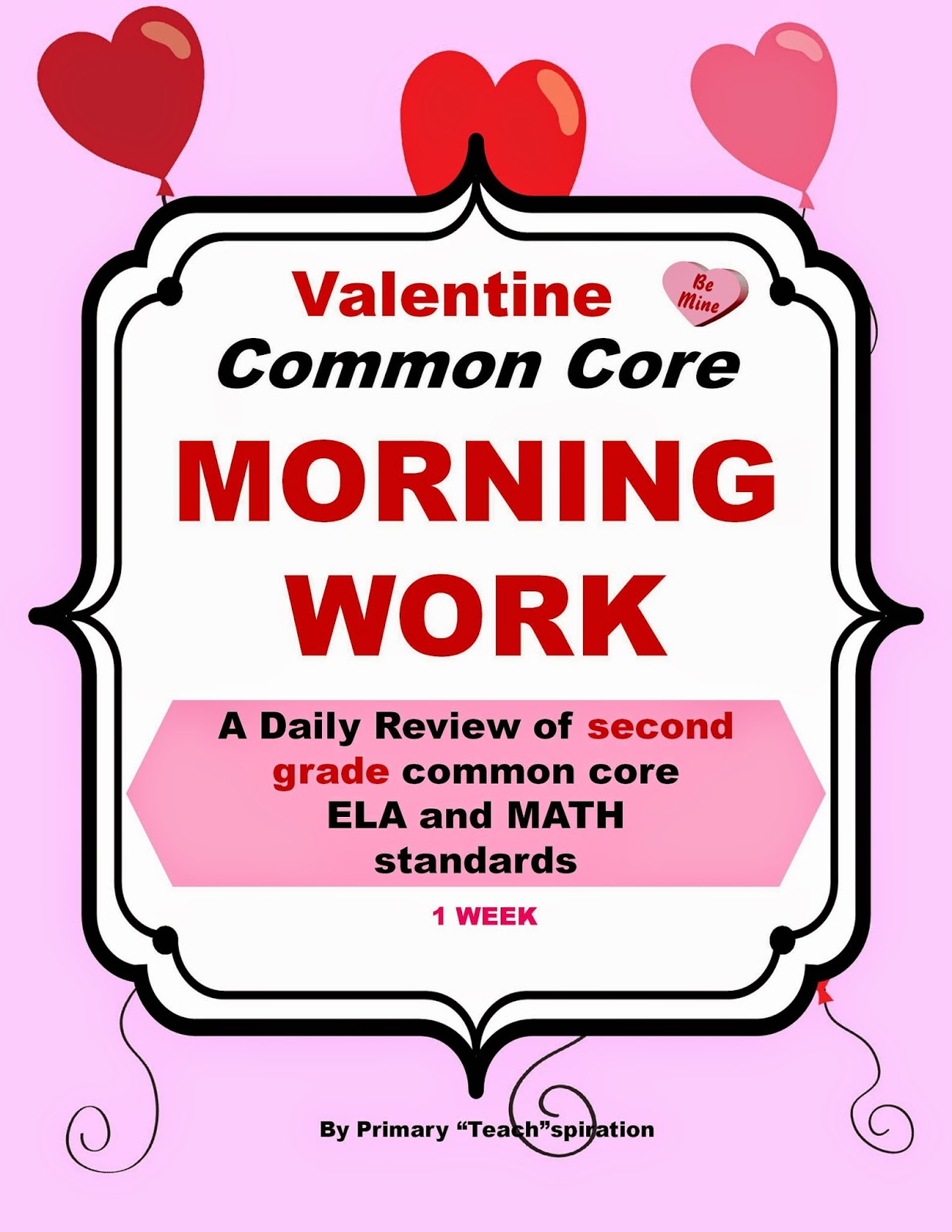 Classroom Freebies Too A Week Of Valentine Common Core