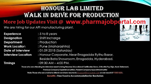 HONOUR LAB LIMITED Walk In Drive For Production at 1 September