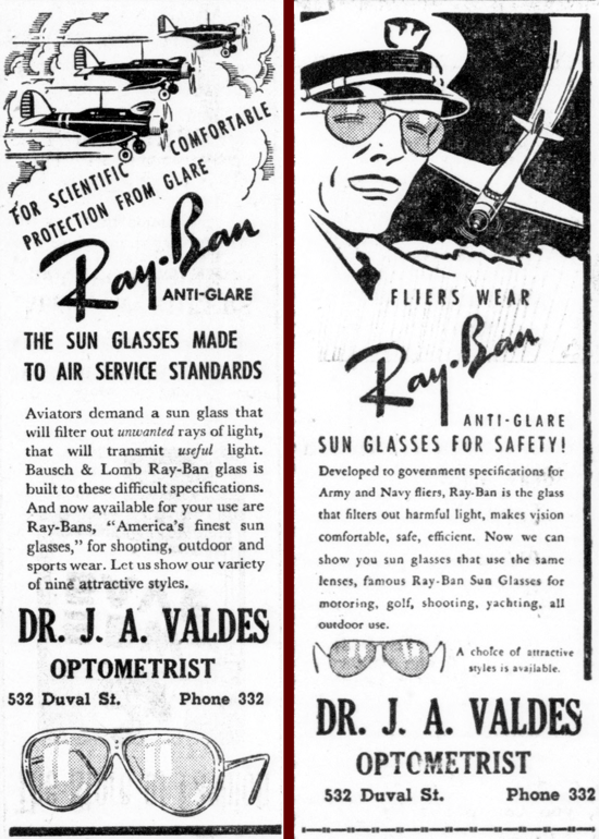 Ray-Ban newspaper ad 1940, March 23-30