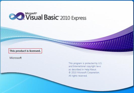 Serial Visual Basic 2010 Express