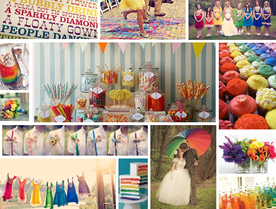 Rainbow Wedding Colors, De Lovely Affair Wedding Blog, Multicultural