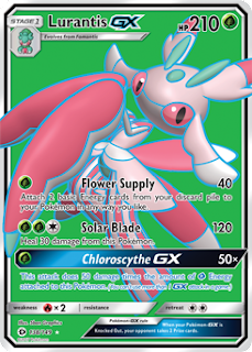 Lurantis GX Sun and Moon Pokemon Card