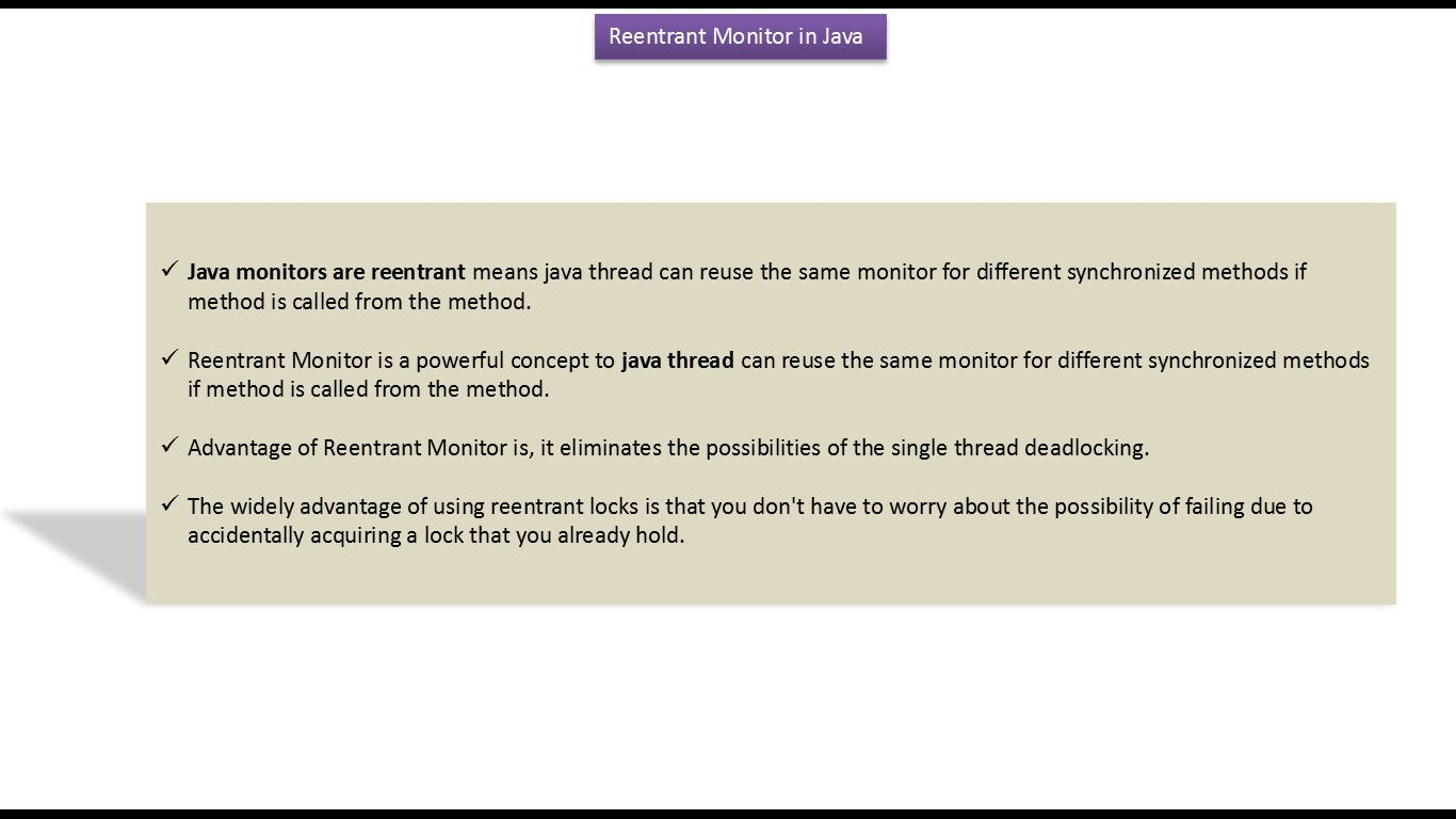 Java thread tutorial with examples image collections any java synchronized tutorial choice image any tutorial examples java ee java tutorial java thread reentrant monitor baditri Image collections