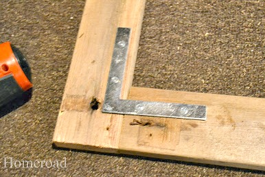 Creating a reclaimed wood sign for a painting with L brackets
