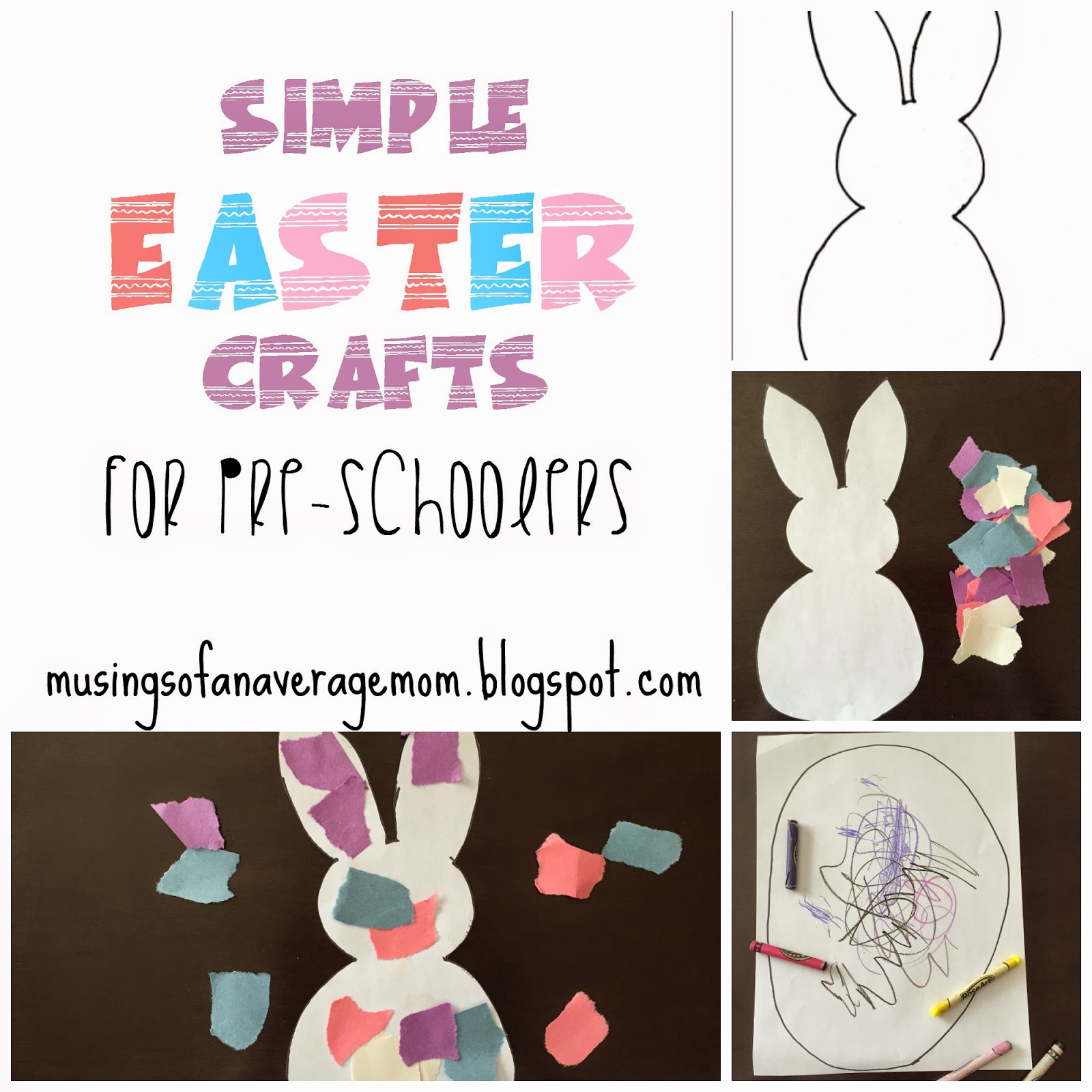 Musings Of An Average Mom Simple Easter Crafts