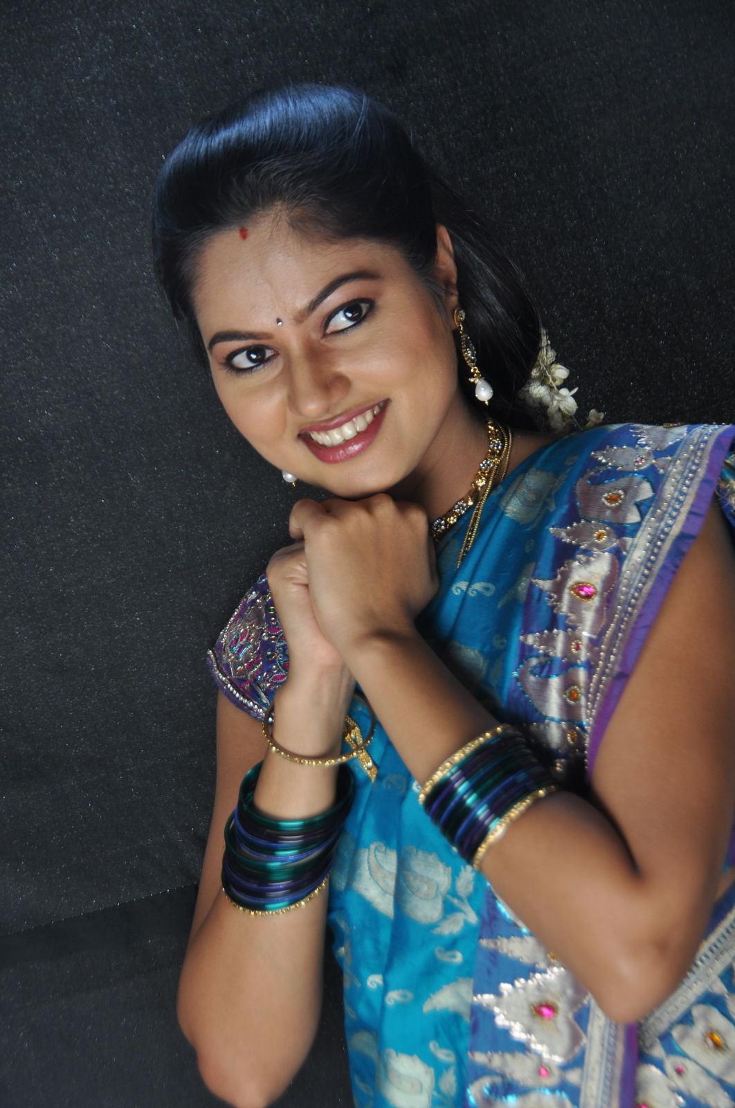 Telugu Tv Actress Suhasini Photos Blue Saree