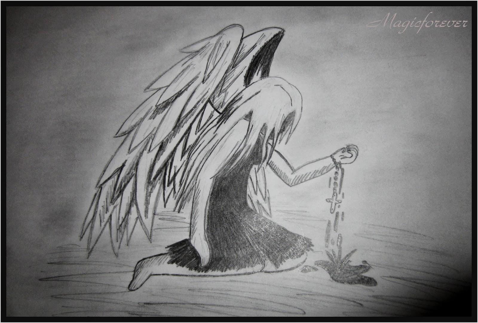 päťka porazených,obrazy,kreslenie,krv,kríž,anjel,smrť,