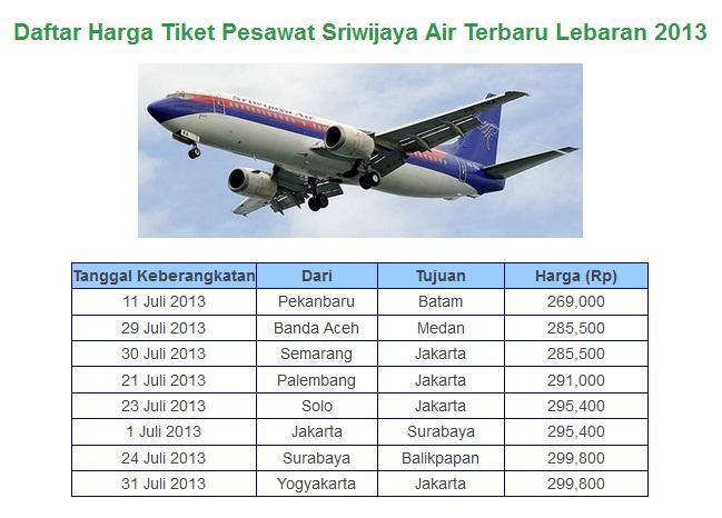 Harga Tiket Pesawat Sriwijaya Air Terbaru Juli-Agustus ...
