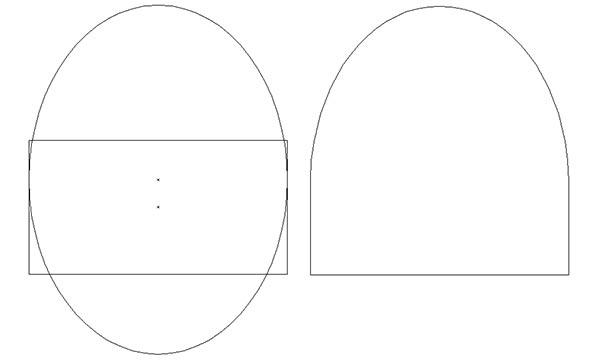 base shape for gravure