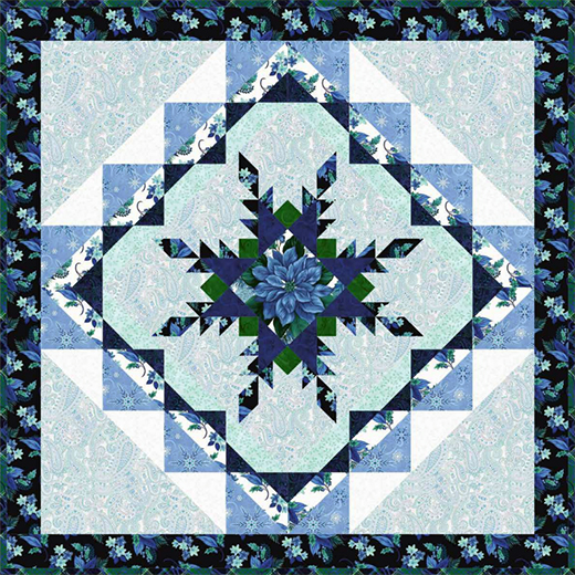 Something Blue Table Topper Free Pattern