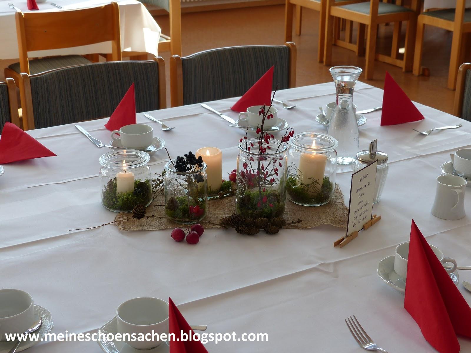 Meine Schonsachen Herbstliche Tischdeko Zum 60 Geburtstag
