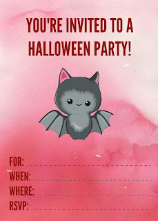 free printable pink halloween invitations