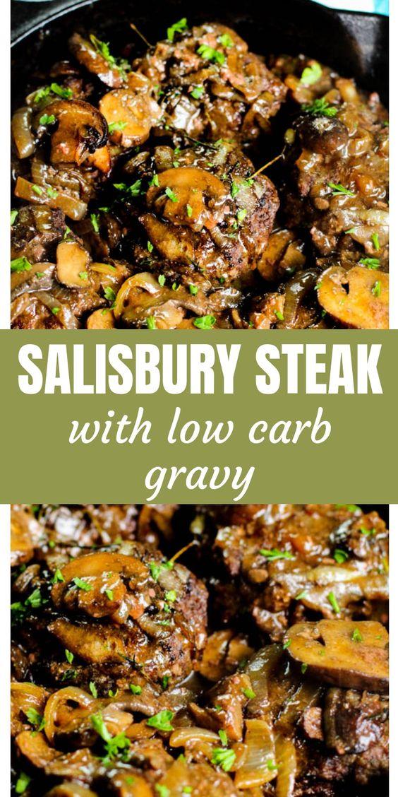 Easy Keto/Low carb Salisbury Steak Recipe with Gravy