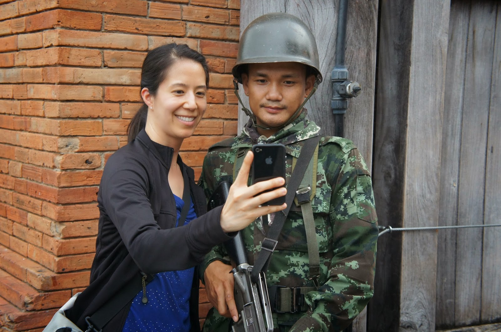 Chiang Mai - Okay I had to take a selfie with one of the military guys
