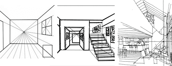 interior design drawing techniques - Interior Design Sketches