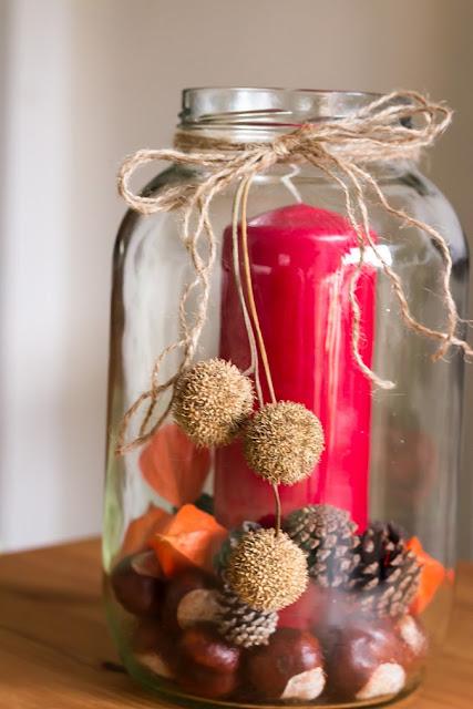 Herbstdeko Dekorieren mit Naturmaterialien