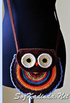 baykuşlu çanta kalıbı