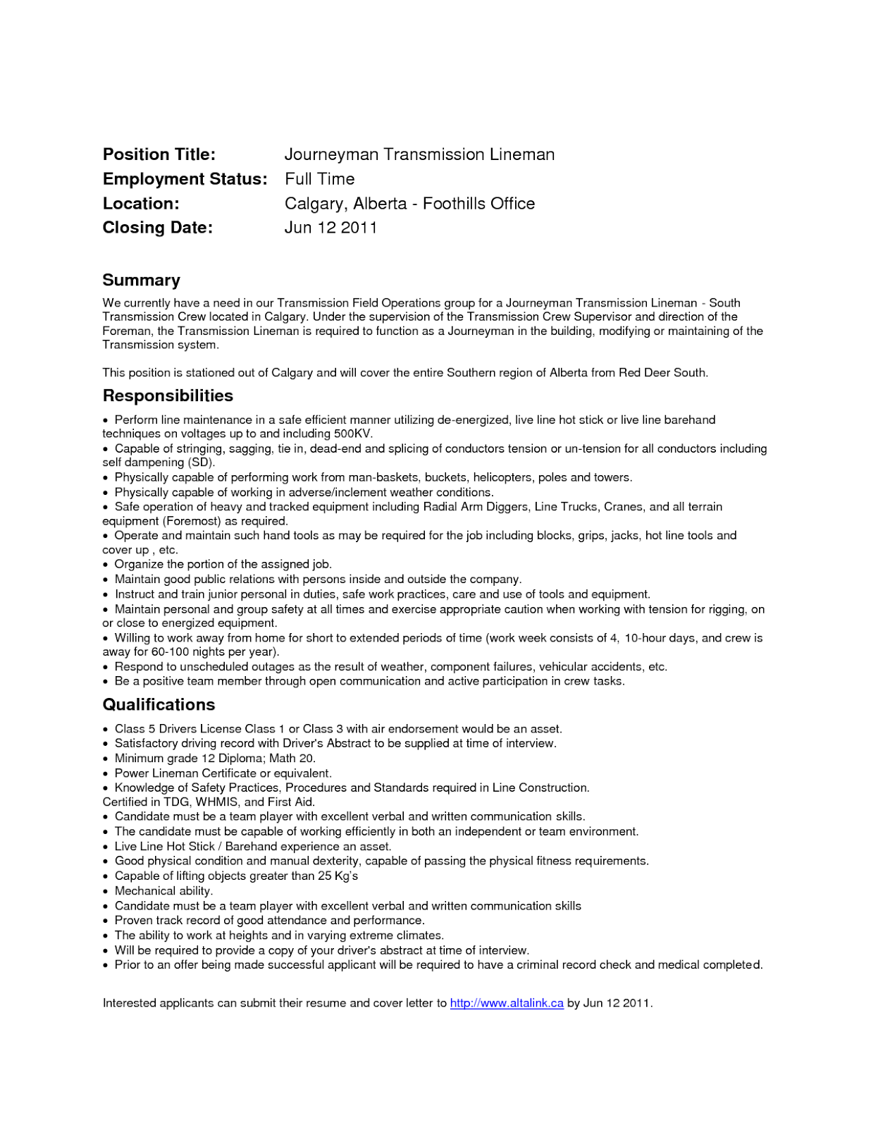 Tag : Apprentice Lineman Resume Sample Example, Cover Letters Free, Cover  Letters Sample, Free Resume Cover Letter Examples, Marketing Manager Cover  Letters ... Intended For Lineman Resume