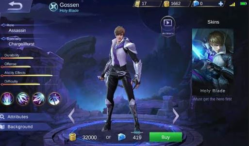 Build Item Gear dan Emblem Set Hero Gossen Mobile Legends