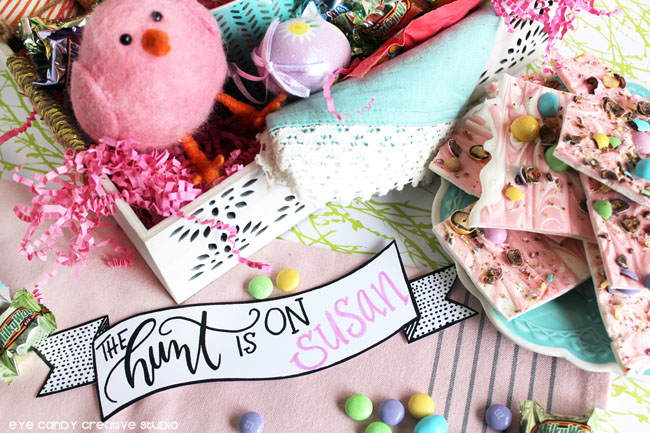 easter banner, the hunt is on, free banner, free easter banners, freebie