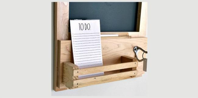 DIY Kitchen Cabinet Door Chalkboard Center