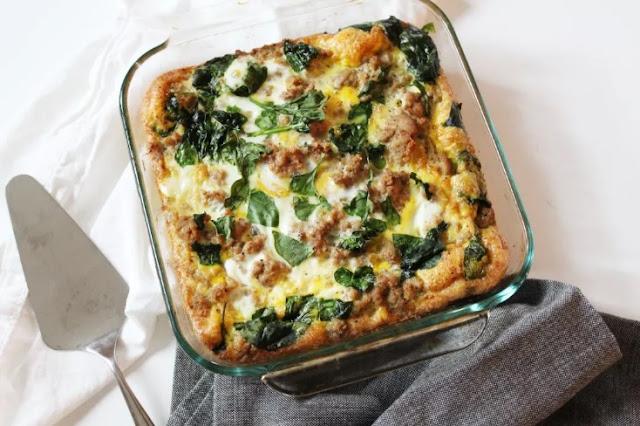 Turkey & Egg Breakfast Casserole #breakfast #paleo