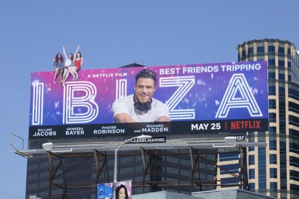 Ibiza film extension cut-out billboard