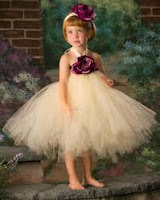 designer peach colored tutu