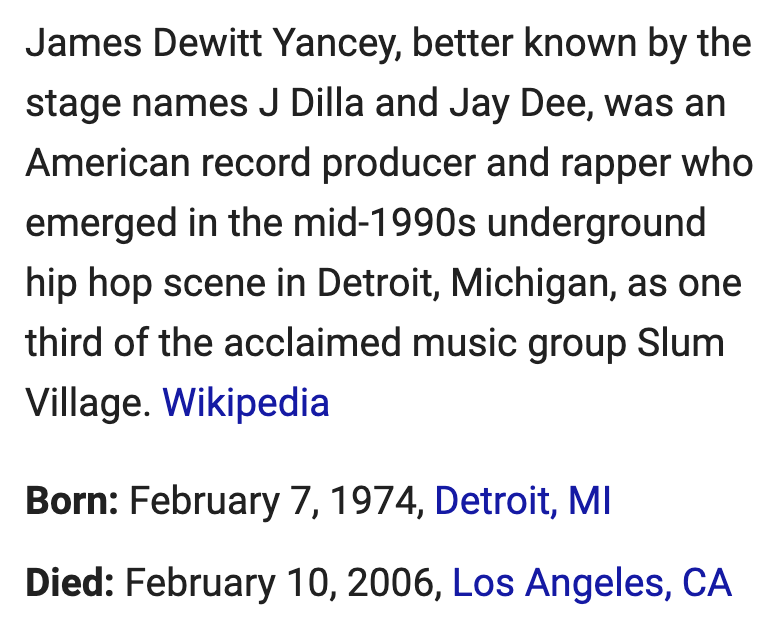 free to find truth: 38 42 67 118 257 | Death of J Dilla