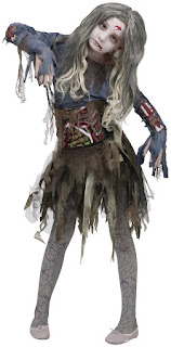 Women's Zombie Girl Costume for Halloween