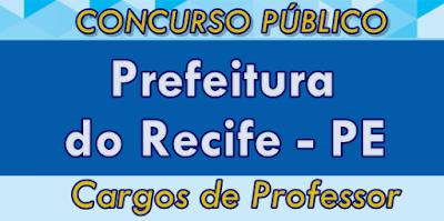 Apostila Prefeitura do Recife 2017 para o concurso Secretaria de Educação do Recife.