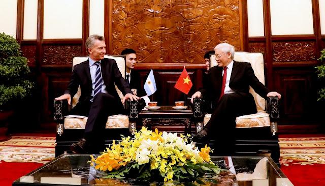 """Macri: """"El trabajo conjunto entre la Argentina y Vietnam promoverá exportaciones y hará crecer la inversión extranjera"""""""