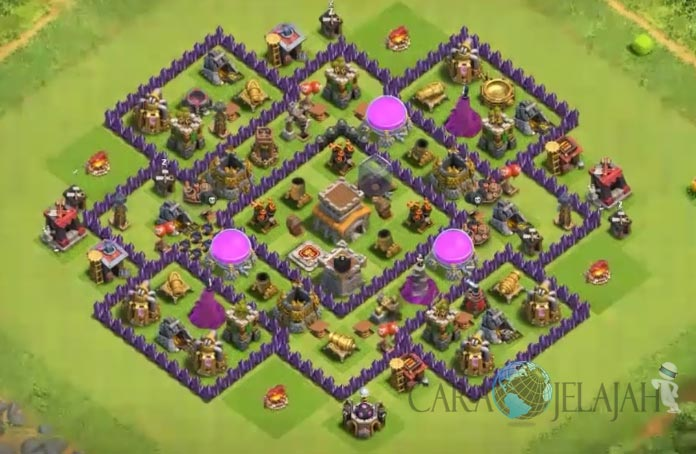 Base Hybrid TH 8 Clash Of Clans Terbaru Tipe 19