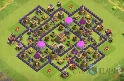Base Hybrid TH 8 Clash Of Clans Terbaru Tipe 19