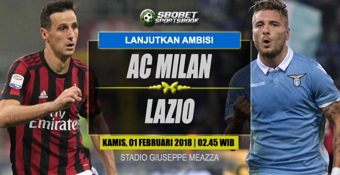 Prediksi Milan vs Lazio 1 Februari 2018