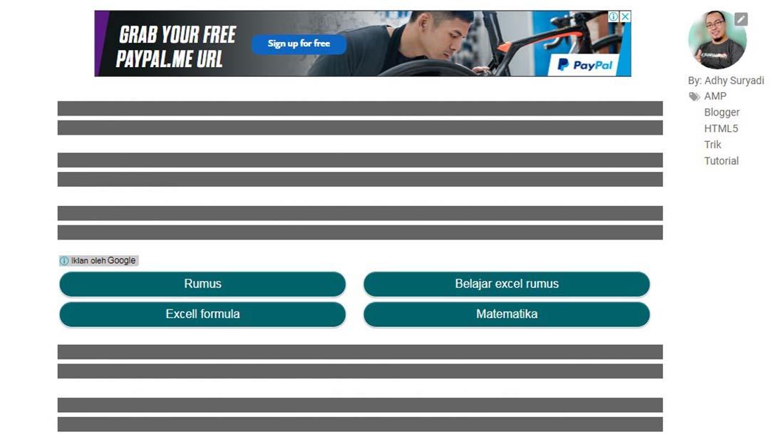 Mengakali Penempatan Iklan Otomatis Di Tengah Postingan Pada Blog AMP