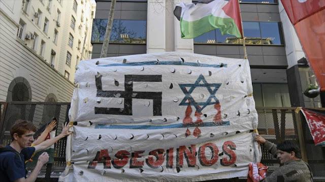 Argentinos gritan: Netanyahu es asesino de los niños palestinos