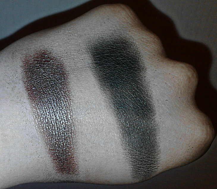 MUA Eyeshadows in Pearl and Matt (swatches)