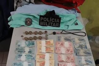 Dupla é presa suspeita de roubar estabelecimento comercial em Caiçara