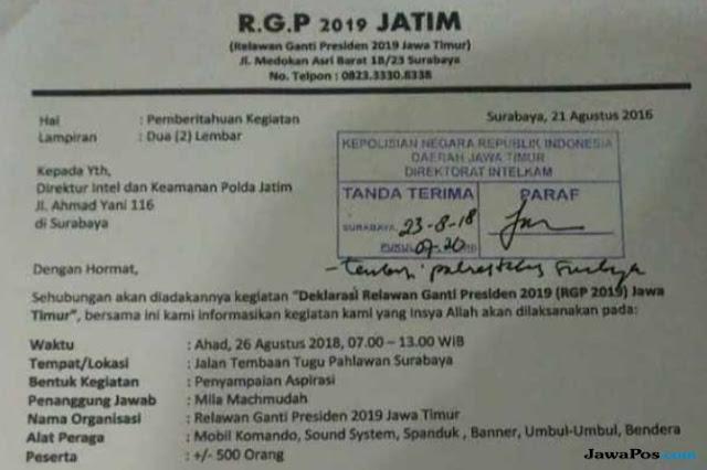 Izin Ditolak, Ini Kata Panitia Deklarasi #2019GantiPresiden di Surabaya